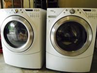 Whirlpool Duet front-loading white washer and electric