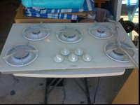 "I'm selling this 5 Burner white 36"" x 20"" Ceramic-Glass"