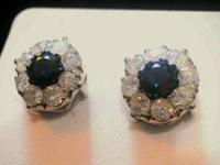 I am selling a pair of diamond earrings that I