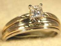 Stock #117 $325.00 This wedding set is white and yellow