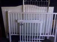 We have a baby crib for sale. Comes with sealy