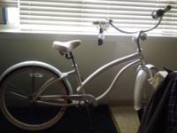 White beach cruiser $150 best offer...good condition