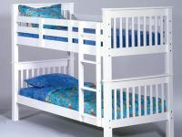 Perfectly cute white bunk bed set. Any girl would love