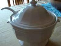 White Ceramic Soup Serving Dish . . .moving and selling