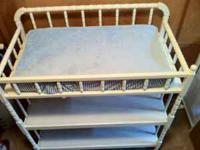 Nice white Jenny Lind style changing table. Comes with
