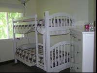 White youngsters's twin size bunk bed. Excellent