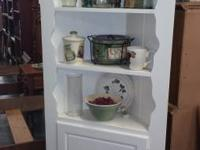 i have 2 white corner cabinets. $100 Each +9 % tax. DO