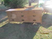 THIS IS A NICE NINE DRAWER DRESSER BY WHITE CRAFT IN