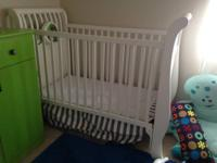 White Bassett crib. Delicately used with a great deal