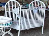 Have nice white Graco crib WITH nice matterss for