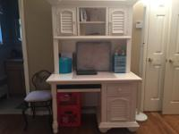 White desk with hutch (detaches)Condition: GoodBought