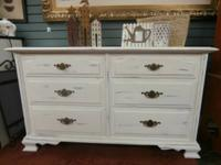 White Dresser, Dovetail Drawers - $299  Antiquity
