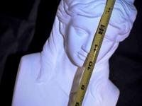 White Female Roman Bust (Resin) Sell $20 Cash or