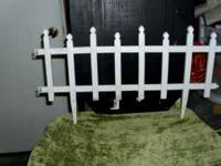 For sale 14 pieces of white plastic garden fencing in