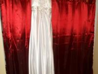 size 12 white long formal dress great for prom wedding