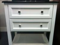 "Elements Vanity Package 30"" White w/ 2 Drawers Black"