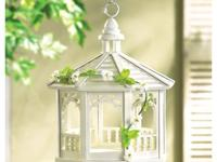 Gazebo birdfeeder is tastefully trimmed with