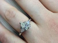 engagement ring. Ring valued at roughly $10k. Size 7.