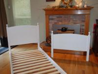 We have two sets of white headboards & footboards (only