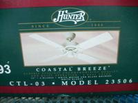 "Hunter 44"" 4-Blade Ceiling Fan (New) Still in Box"