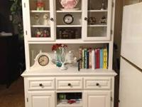 For Sale- White Hutch in excellent condition. You can