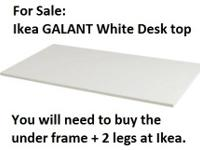 For Sale: White IKEA GALANT desk top (retails for $40)