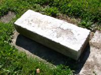 This is a very old carriage step that was used in Long