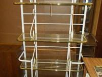 White metal bakers rack. 4 racks. Approximate