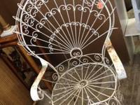 White Metal Chair Shabby chic home decor. $30 Dealer
