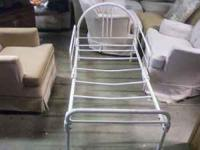 We have a white metal toddler bed. You can contact
