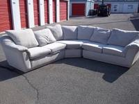 this is a 3pc white microfiber sectional comfortable