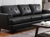 YOUR CHOICE OF EITHER BLACK OR WHITE BONDED LEATHER
