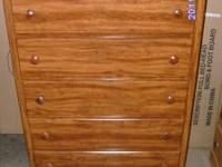 White or Maple 5-Drawer Wood Chests $199. These items