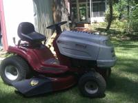 I'm selling my White Outdoor Riding Lawnmower. The