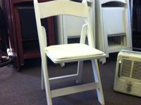 50 White Padded Chairs for sale. Buy one or Buy all. If