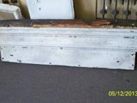 "White Painted wood lintel Approximately 56"" long x 16"""