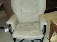 This chair is very comfortable and rotates and glides.