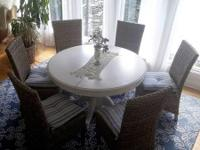 Type: Dining Room Type: Sets 1900's white dining table