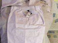 White Scrub Cargo Pants, Brand New, Never Worn, Life