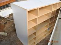 2 White Shelving units w/ cubbies Great for Kids' toys,