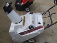 THIS IS A GREAT RUNNING SINGLE STAGE SNOWBLOWER HAS