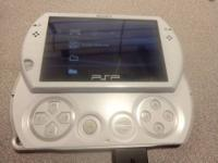White Sony PSP Go Game system. Comes with charger as