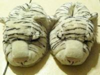 White Tiger Slippers Size 7/8 Text or Call  show