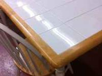 "White Dining Table with 2 chairs 59""x 36"" Call  ----"