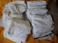 Selling 3 boxes of white towels...Good for home or