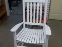 WHITE WOODEN ROCKING CHAIR- OVERSIZED-*** NEWLY