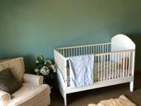 Crib is in good condition, not heavily used. Comes with