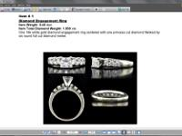 Type: Jewelry White Gold Ladies Wedding Set Appraised