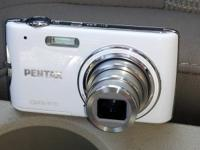 White Pentax P70 for sale. Small digital camera that is