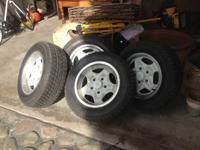 White Porsche 911/912/944 Cookie Cutter Rims and Tires